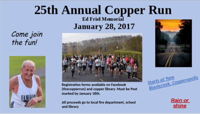 Join The Ed Friel Memorial Copper Run