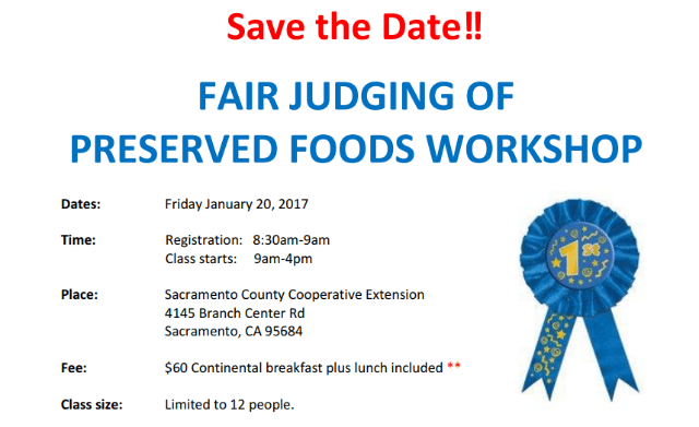 Wanna Be A Judge? Fair Judging  Of Preserved Foods Workshop