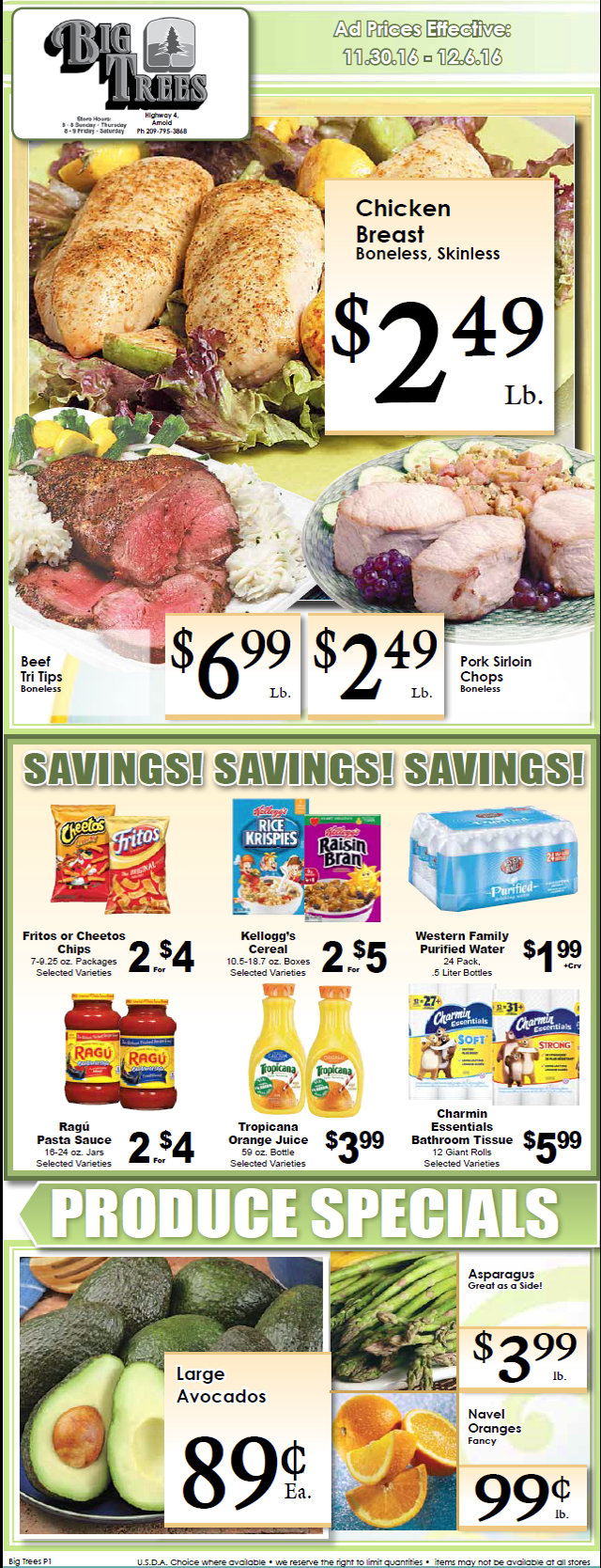 Big Trees Market Weekly Ad & Specials Through December 6th