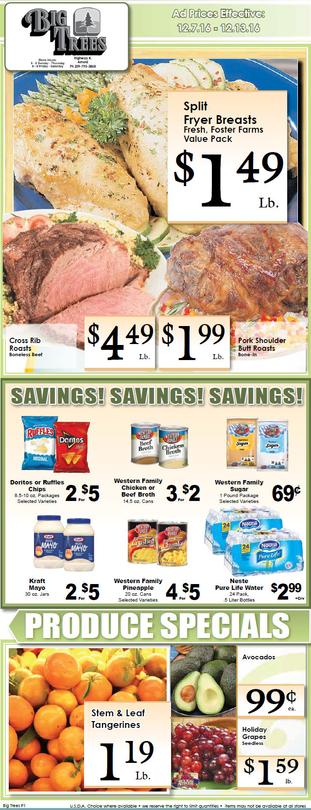 Big Trees Market Weekly Ad & Specials Through December 13th