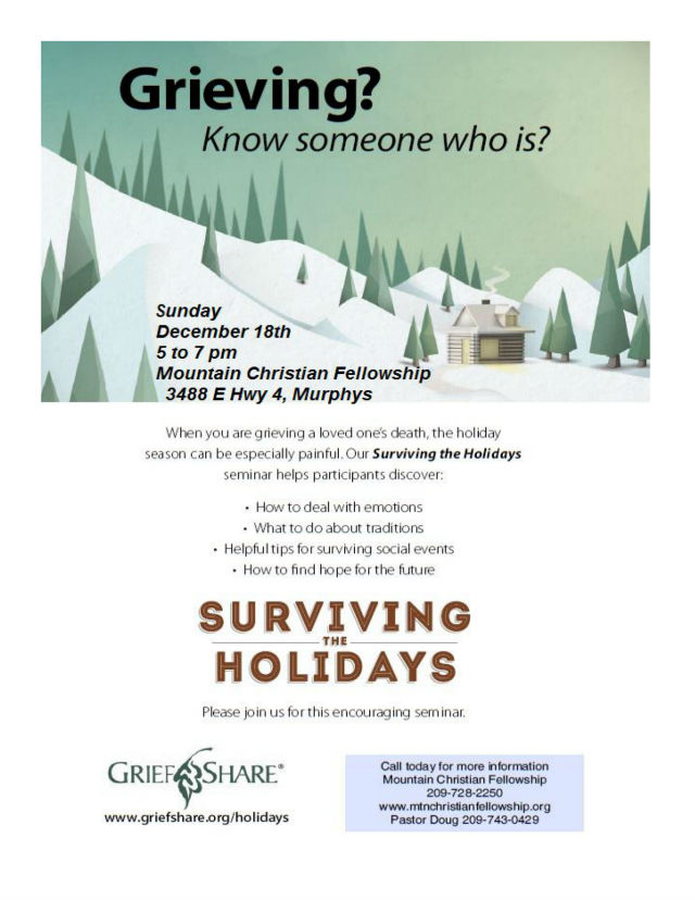 Surviving The Holidays ~ Sunday, December 18th