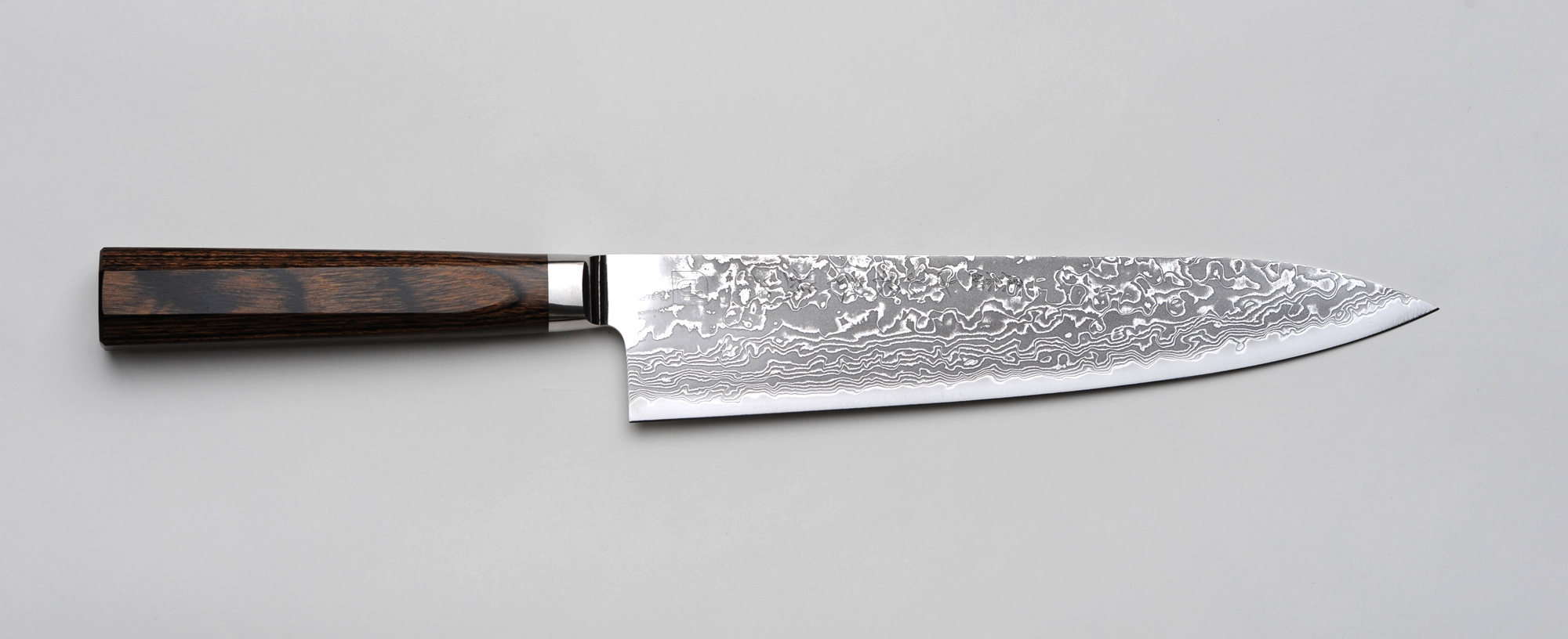 R4 Damascus Chefs Kitchen Knife 210mm  82in  Unique