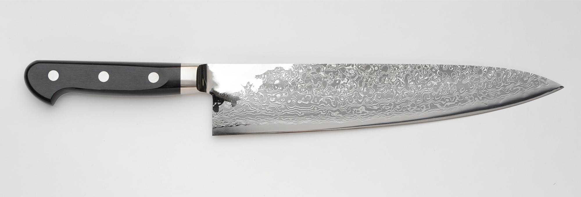 damascus kitchen knives black canisters for r2 chef s knife 240mm 9 5in unique japan featuring