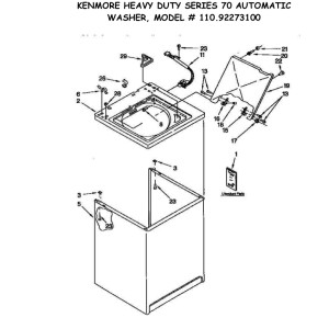 Kenmore 70 Series Dryer Wiring Diagram, Kenmore, Free