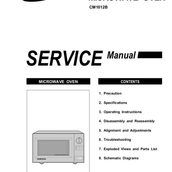 Samsung Microwave Smh1816s Parts Diagram Samsung Microwave Service Manual Bestmicrowave