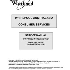 Whirlpool Microwave Hood Wiring Diagram 95 Cherokee Radio Step Right Up Appliance Service Manuals Models Mh6140 Mh7140 And Gh7145 Manual