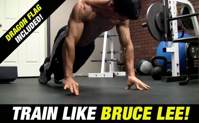 """BRUCE LEE Workout (See The """"Dragon Flag"""" In Action"""