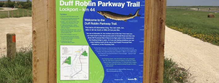 Floodway sign