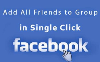 How to add friends on facebook to a group in one click