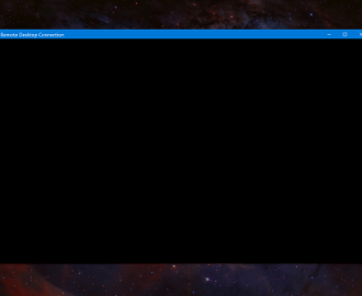Windows 10 Remote Desktop Black Screen