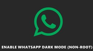 whatsapp dark mode bug