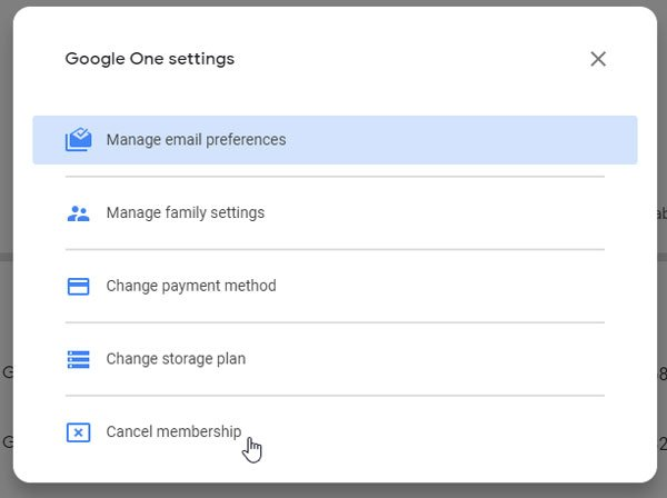 How to cancel Google One subscription