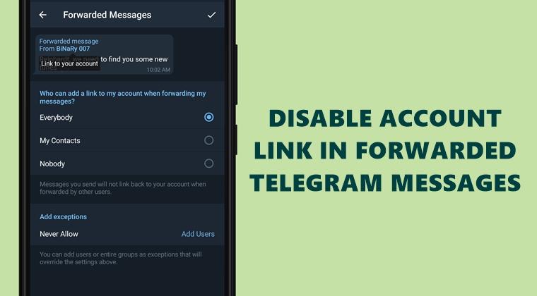 disable telegram link