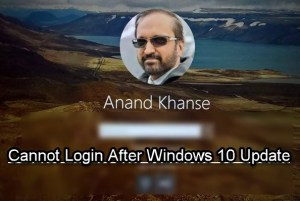 Windows 10 Cannot Login after update