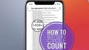 how to check iphone battery cycle count in settings