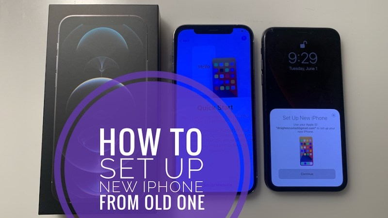 how to quickly set up a new iphone 12 from