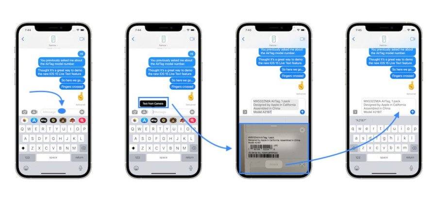 how to send SMS from camera on iPhone