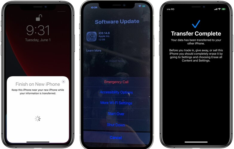 how to transfer data from old iPhone to new one