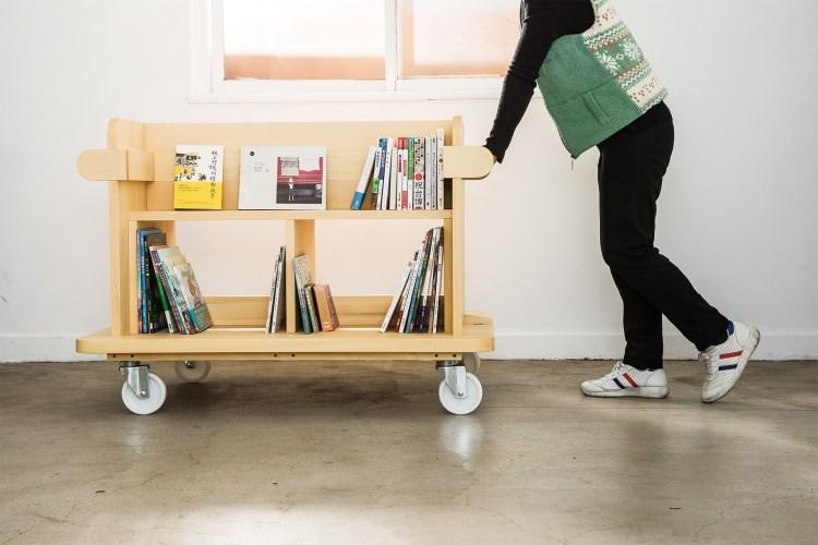 隨時隨地打造專屬讀書空間的移動式書櫃