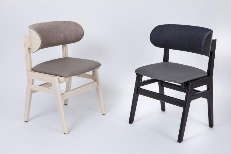 椅背墊的材質採用布製品靠起來感覺柔軟溫和、坐墊為抗菌特製塑膠皮料材質,耐用又方便清理。