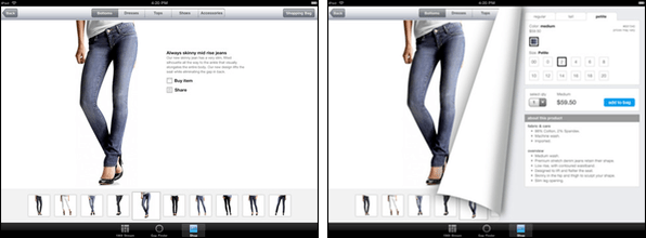 <em>Gap shopping experience for iPad</em>