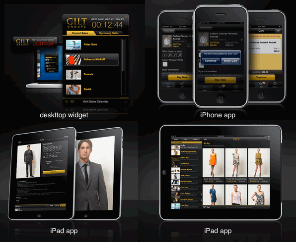 <em>Gilt shopping experience</em>