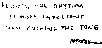Feeling the rhythm is more important than knowing the tune @johnmaeda