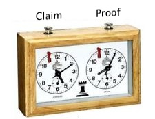 Claim and proof thereof in real time next to each other