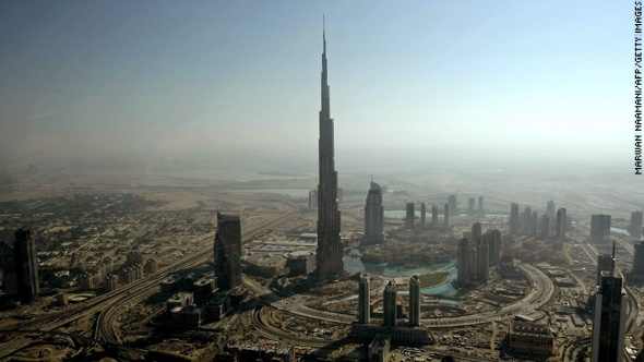 Burj Khalifa skyscraper in Dubai photo via cnn.com