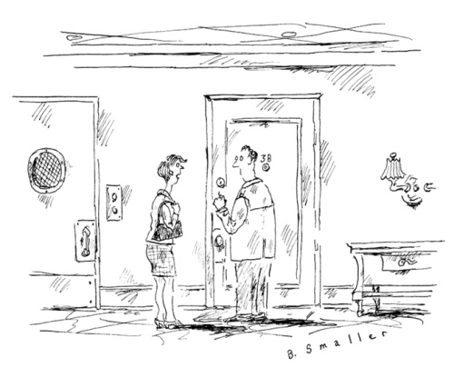 """O.K., I'll come in for one drink and maybe sex, but that's it."" ©B. Smaller The New Yorker"