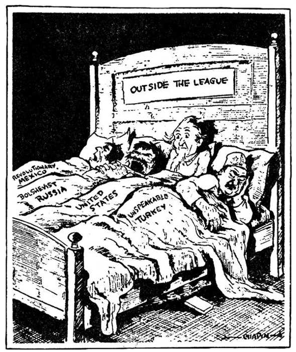 'Strange Bedfellows' by James Chapin was first published in St. Louis Star Times, some time around 1917. It is reproduced here with the assistance of the Billy Ireland Cartoon Library and Museum.