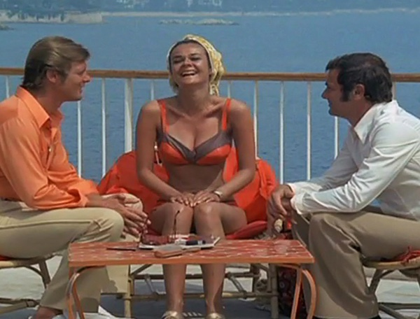 Tony Curtis, Roger Moore, and Imogen Hassall in The Persuaders! (1971)