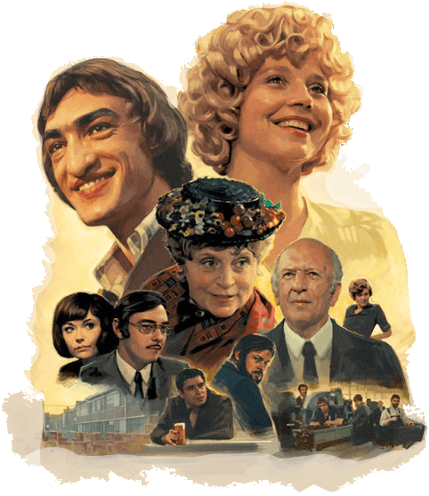 The new movie poster illustrated by British artist Sam Hadley in a wonderful pastiche of '70s advertising art a seven-hour for the release of a 1972 German miniseries directed by R.W. Fassbinder that had never before been shown in the U.S.