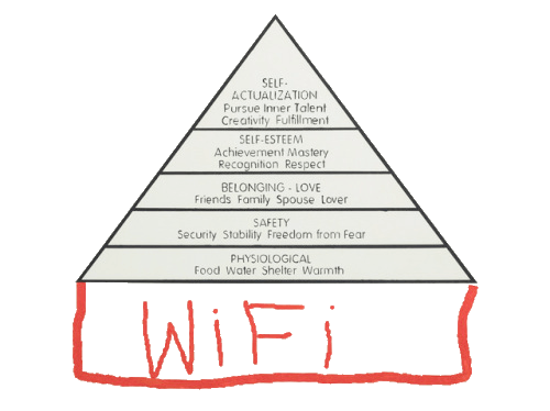 With the event of emerging technologies and its effect on democratization Maslow's pyramid has pivoted.