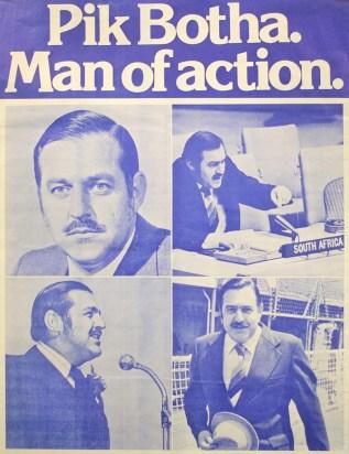 Pik Botha Man of action Poster (2)