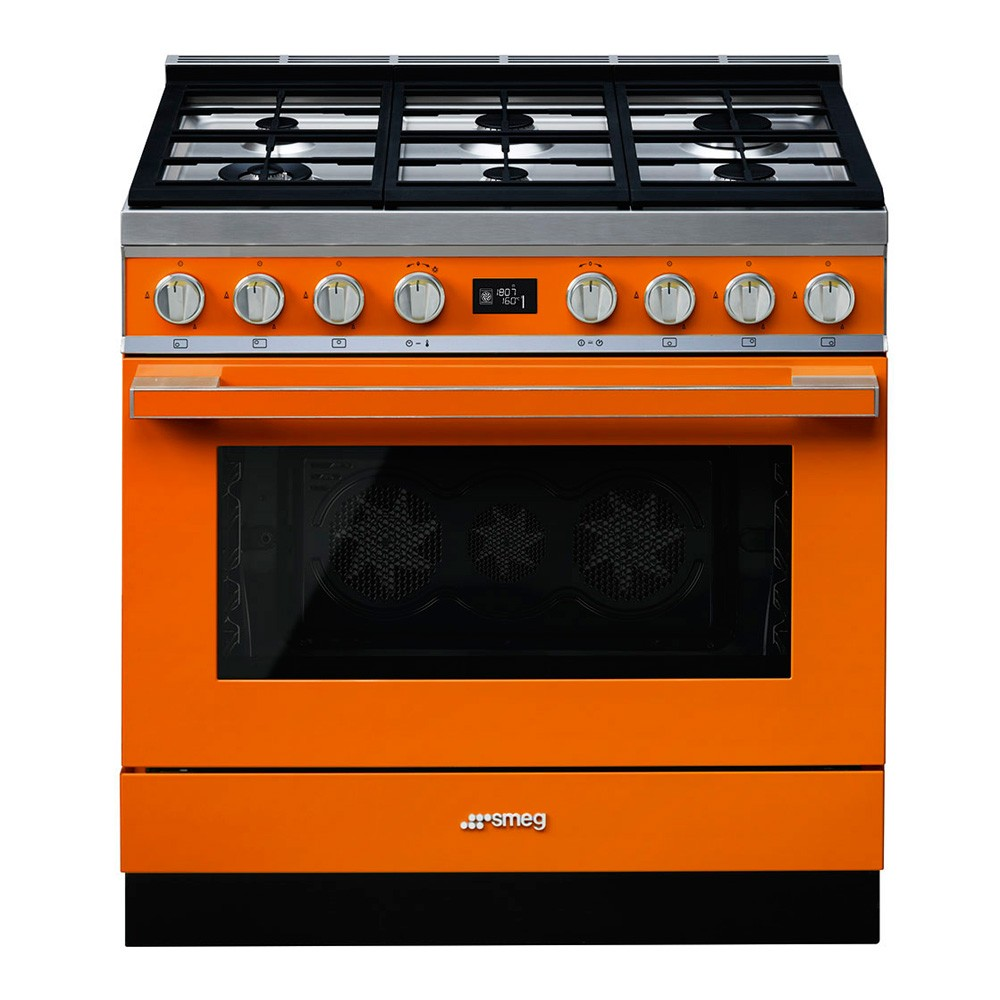 smeg wall oven wiring diagram lotus in water plant portofino range cooker with pyrolytic multifunction and gas hob black cpf9gpbl