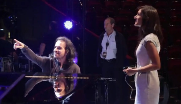 Yanni and his daughter Krystall Ann