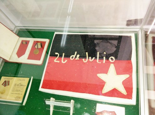 Memorabilia from 26th of July Movement, Moncada Museum