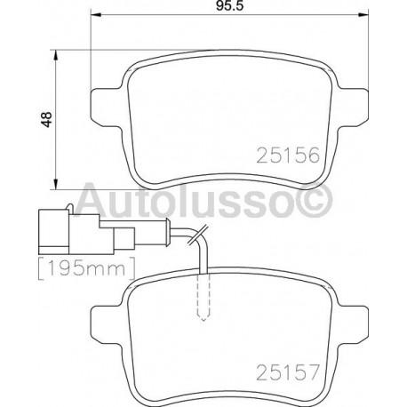 Rear brake pads for Alfa Romeo Giulieitta 1.4