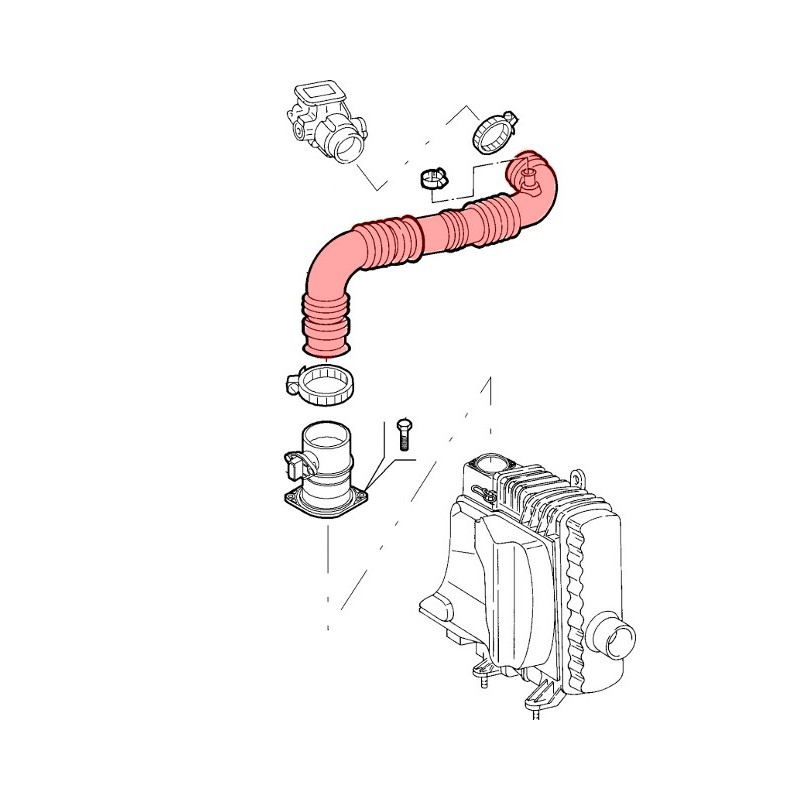 Induction hose for the Alfa Romeo GT 2.0 JTS models.