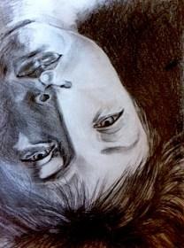upside down Caroline/pencil