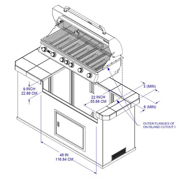 Bull Diablo 46-Inch 6-Burner Built-In Propane Gas Grill