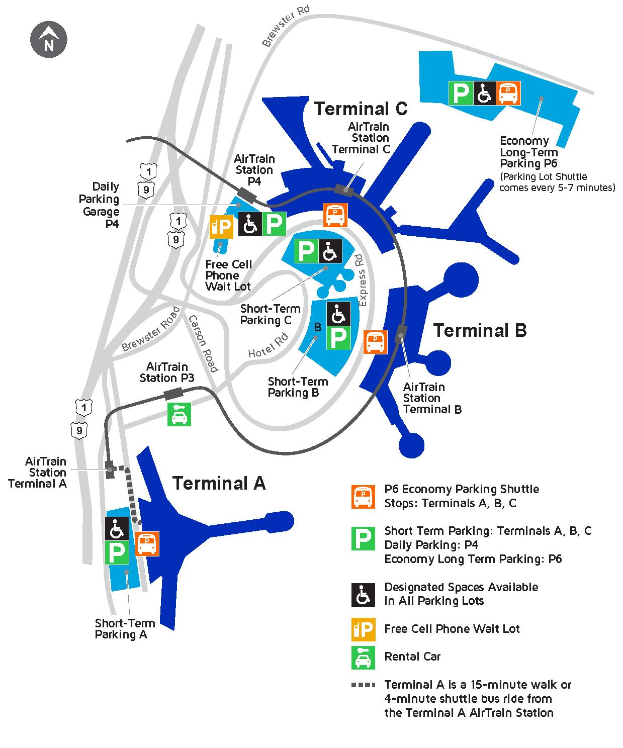 Port Authority Bus Terminal Map : authority, terminal, Airport, Newark, Liberty