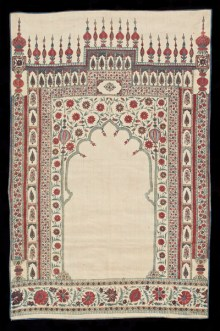 Prayer Cloth with Mihrab, Gate and Floral Motifs (lower left) India, Mughal Period (1526—1857) Hand-painted and block printed cotton Newark Museum Gift of Dr. Louis C. West, 1967 67.415
