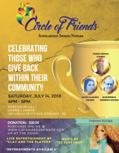 Circle of Friends Awards 2018 flyer