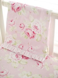 Pink Floral Baby Bedding