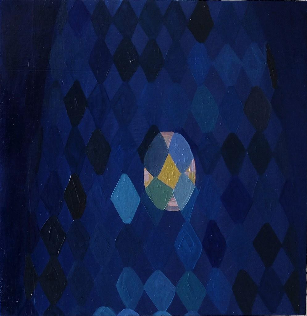 Meg Hahn's Window Gate II Oil on panel