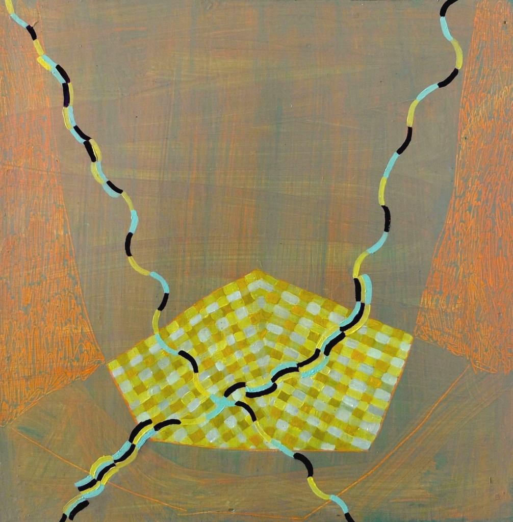 Meg Hahn's Wavy X Oil on panel