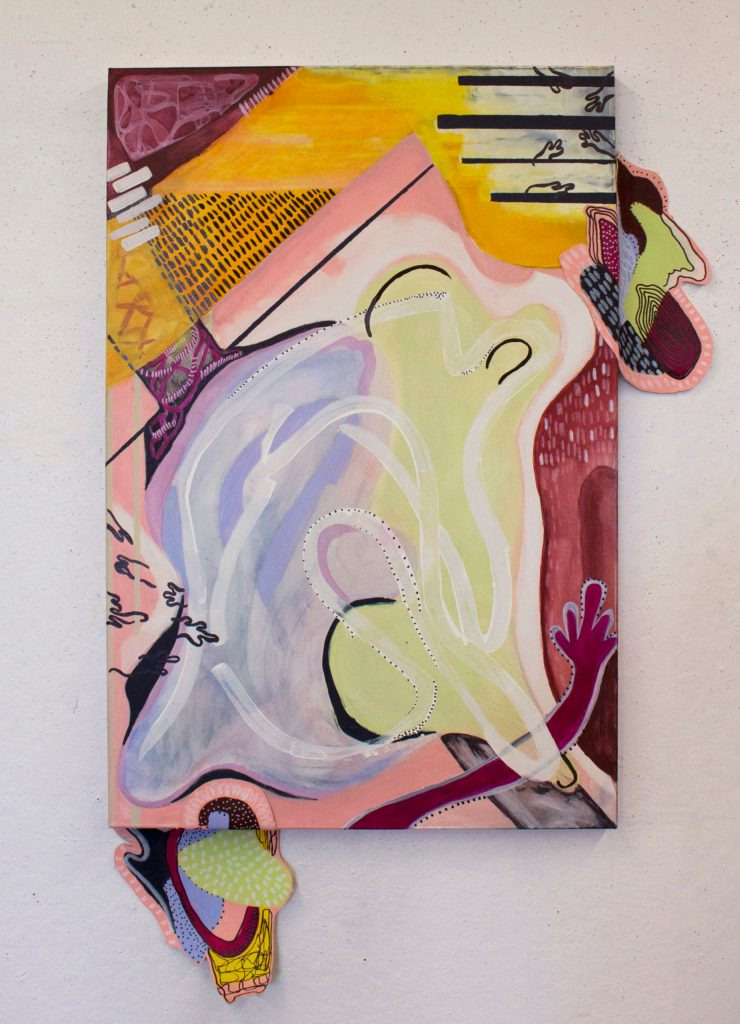 Dianora Bennet's Interwined Acrylic on canvas