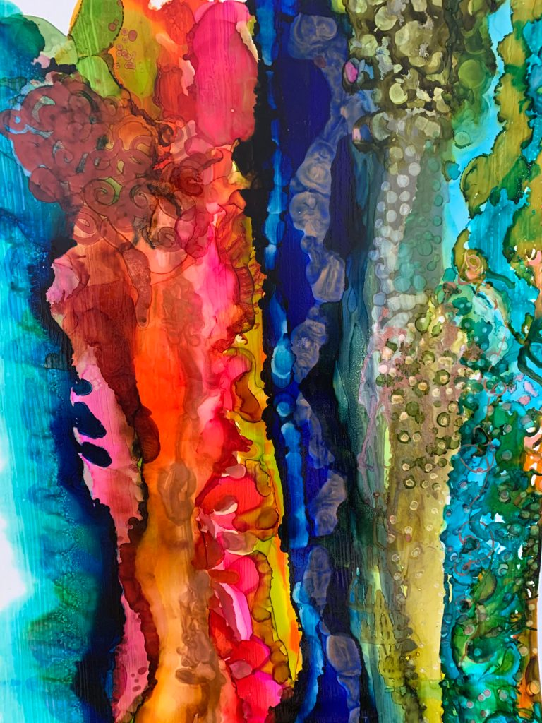 Laura Palmer's Edwards Love of Color Alcohol ink resin